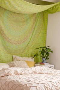 07-ethnic-blanket-instead-of-a-headboard-in-your-bedroom